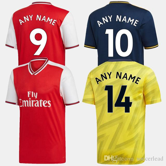 19 20 Gunners soccer jersey home away third 2019 2020 League mailot de foot camisetas de fútbol Home Away Third football shirts