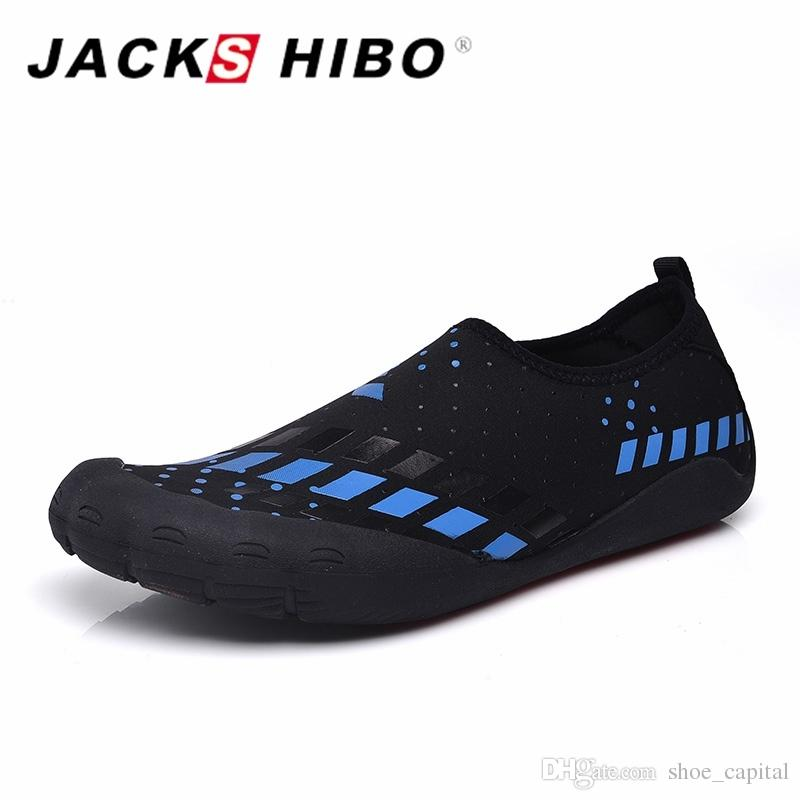 e19b2b58717b JACKSHIBO Summer Men Sandals Slipony Water Shoes Quality Large Size Sandalias  Male Waterpark Sandals Aqua Slippers For Beach  56825 Platform Sandals  Wedges ...