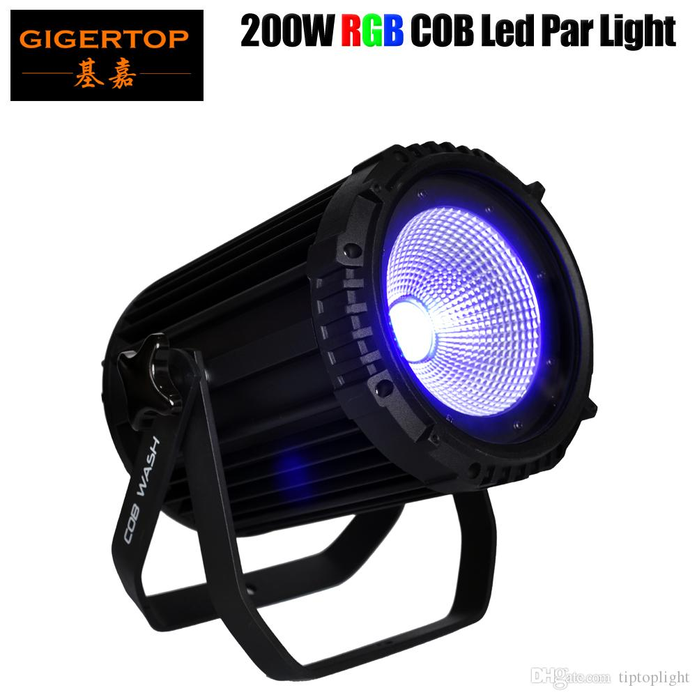200W COB Wash Par Light (Cold or Warm White/RGB),energy saving DMX COB PAR Cans 3/4/5/10 Channels,30/60 Beam Angle