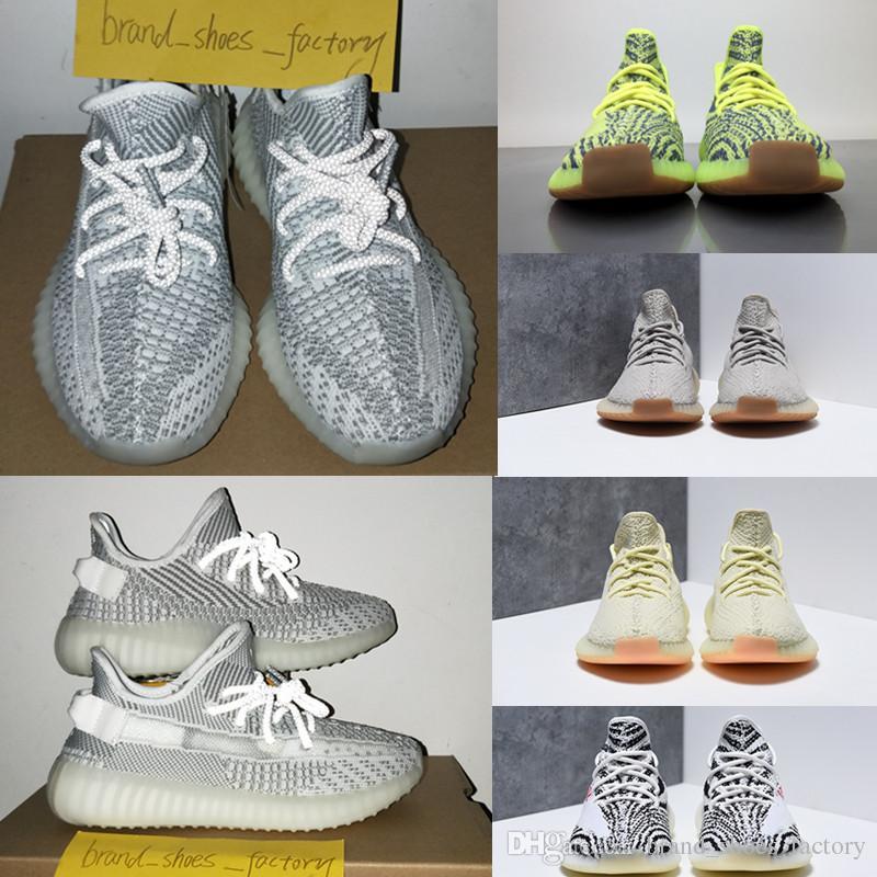 71d143d2 Compre Bolso De Recibos Caja Stock X Etiqueta Kanye EF2905 Static V2 Zapatos  De Encaje Reflectante Zapatillas De Diseñador Zapatos De Hombre Correr ...