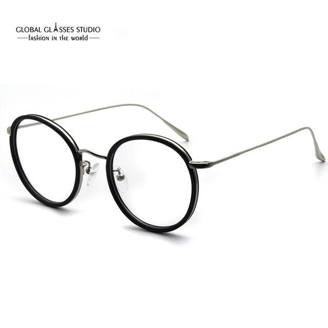 a4f24b34c11 2019 Retro Shape Latest Brand Design Colorful Round Shape Lens Optical  Frame Classic Metal Eyeglasses For Lady RSG014 From Xueyan123