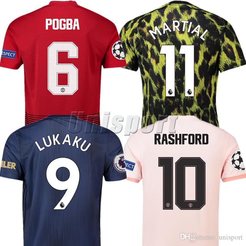 229006f65c 2018 19 Alexis Lukak Martial Pogba Rashford Lingard Soccer Jerseys ...