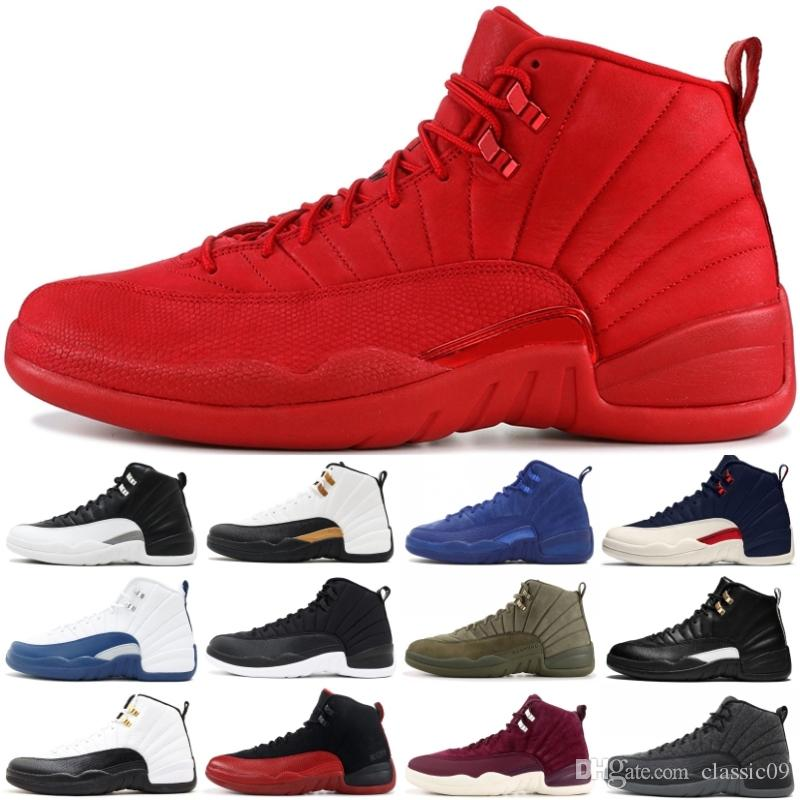 online retailer 82b85 2b47d Gym Red 12 12s Men Basketball Shoes Michigan College Navy OVO MELO Taxi  Designer Shoes XII Mens Sports Sneakers Size 7-13