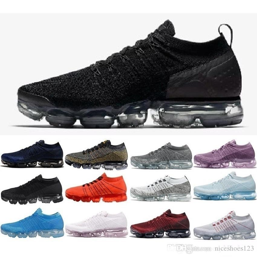 6bababf6ef4f4 New 2019 VM 2.0 Triple White Black Red Blue Oreo Men Women Trainers Sports Shoes  Sneakers Designer Running Shoes Size EUR36 45 Best Running Shoes For Flat  ...