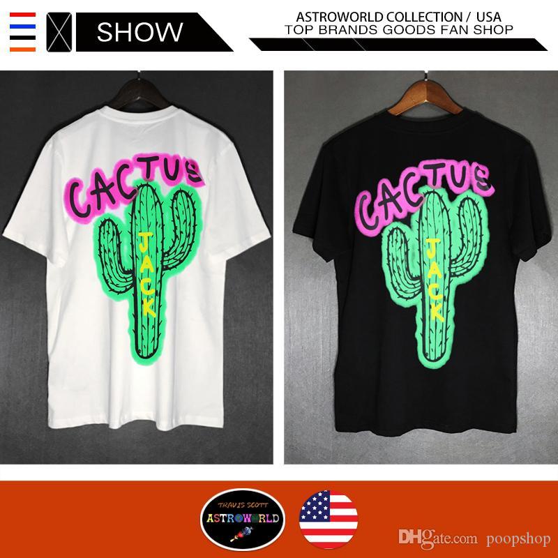 d9a48da0f85f TRAVIS SCOTT Cactus Jack Airbrushed T Shirts Hip Hop Casual Tees ...