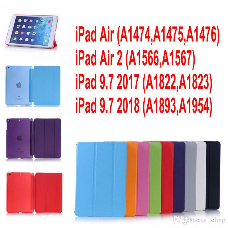 Case for iPad air air2 ipad 9.7inch 2017&2018 PC Hard+PU Leather Smart Auto Sleep Wake Case Ultra Slim Tablet Case