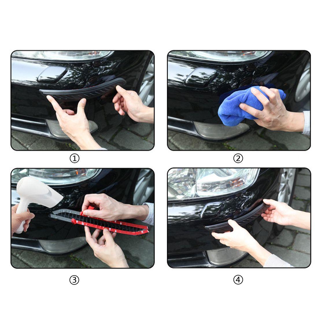 Venta caliente de plástico 2pcs Negro de parachoques de goma del protector de esquina para el coche auto Decoración de Gaza Car Styling