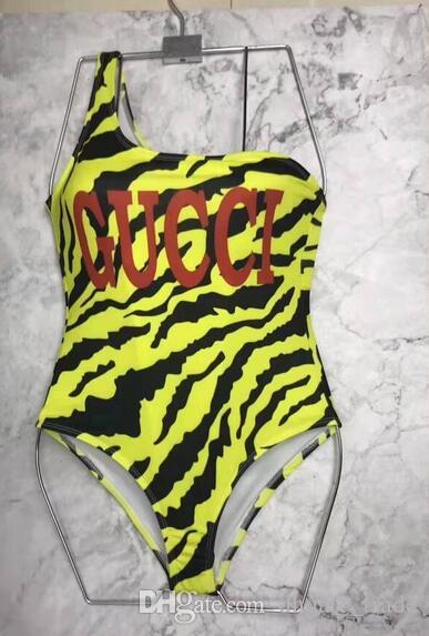 b361a2c6ca97 2019 Letter Brands Bikini Swimwear For Women Bathing Suit Sexy Backless Beachwear  Summer One Piece Sexy Lady Swimsuit From Dhgate_trade, $22.42 | DHgate.Com