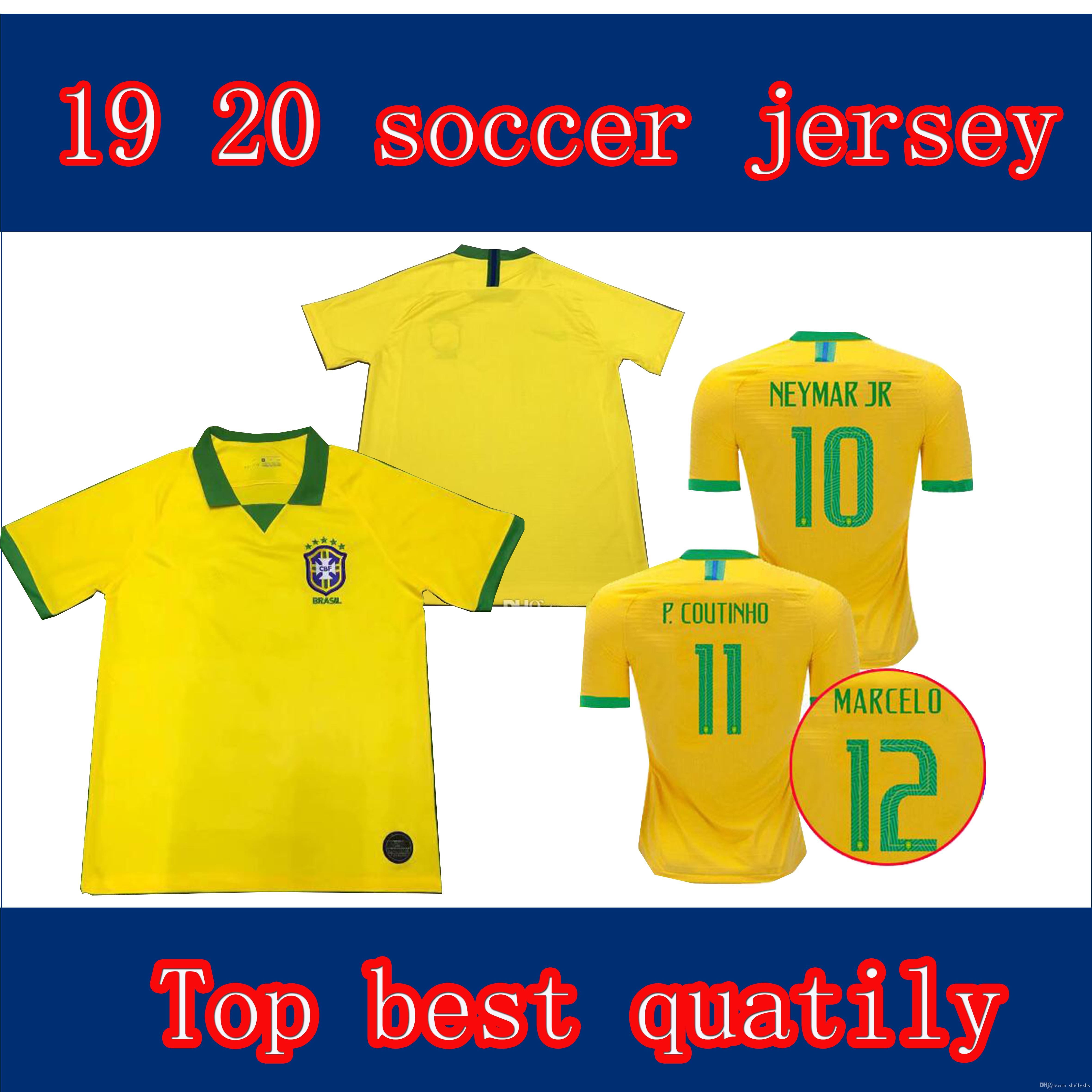 2019 2019 2020 Brazil Soccer Jersey World Cup 19 20 G.JESUS MARCELO COUTINHO  PAULINHO Football Shirts Camisa De Futebol Top Quality From Shellyzhs c8946dd20