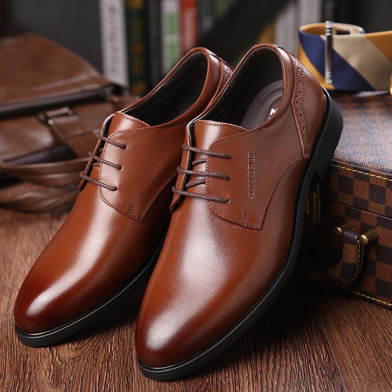 ab26f9b0 Compre Oficina De Cuero Genuino Zapatos Formales De Los Hombres ...