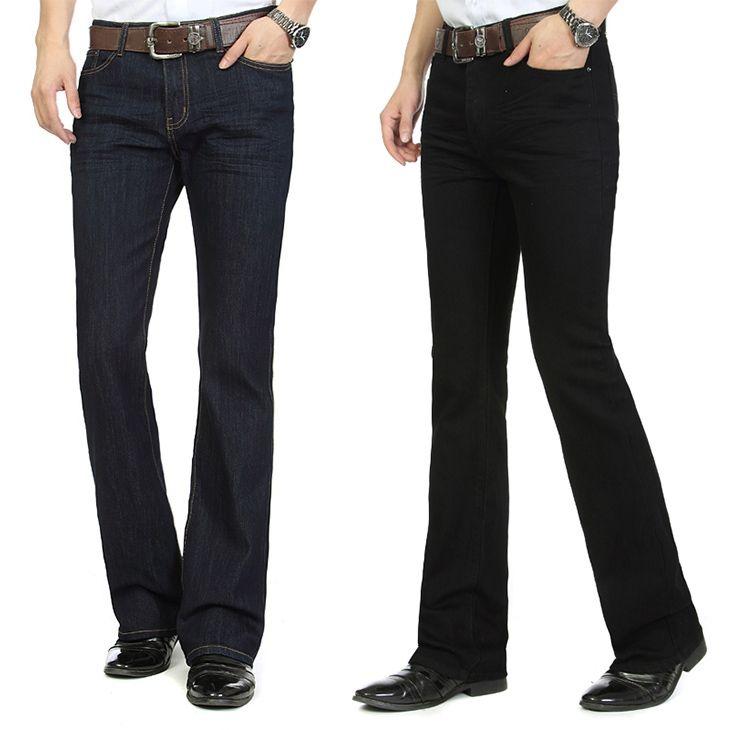 8c60fbe6f 2019 Mens Flared Leg Jeans Trousers High Waist Long Flare Jeans For Men Bootcut  Black Hommes Bell Bottom Men From Ziron, $56.14 | DHgate.Com