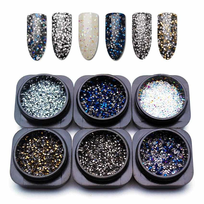 db4afa7441 1.1mm Crystal Pixie Micro Rhinestones for Nail Accessoires Mix Caviar  Design Strass Nail Art Decorations 1 Bottle MJZ1082 D19010803