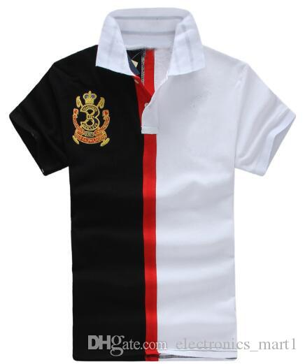 2019 Uomo Casual Polo Big Pony Ricamo Moda MCMLXVII Horse Club Team Polo Medio Striato Camicia Challenge Cup Top