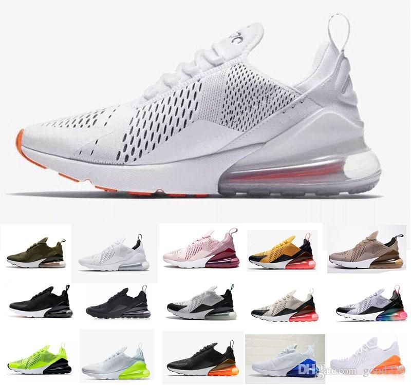 Neuheiten 2019 Nike Air Max airmax AIRMAX 270 Running 27c Männer Frauen  Schuhe Flair Triple Schwarz Weiß Mens Sneakers Mode Outdoor Schuhe größe  36-45