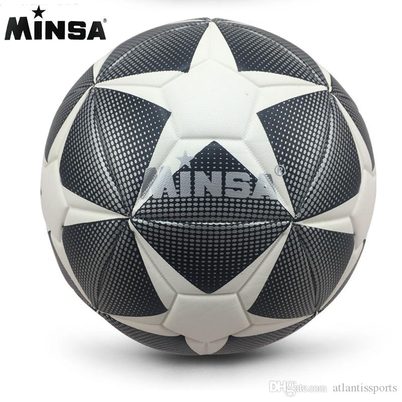 09ab16805c3 2019 New Brand MINSA High Quality A+++ Standard Soccer Ball PU Soccer Ball  Training Balls Football Official Size 5 And Size 4 From Atlantissports