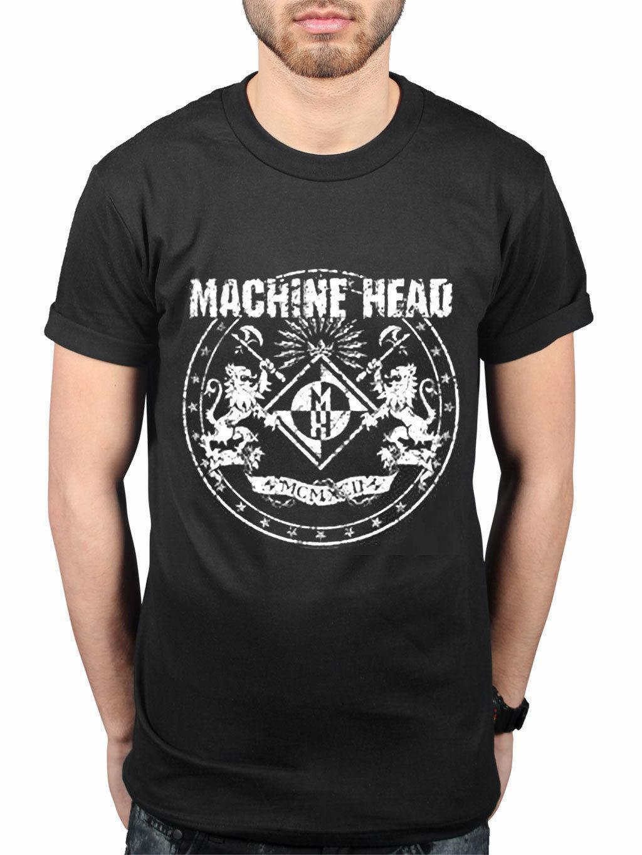 bef6c0dae Compre MACHINE HEAD Oficial Clásico Escudo Nuevo Camiseta Ventilador Metal  American Hombres Camiseta Hombres Ropa Tallas Grandes Top Tee T Shirt A   14.67 ...