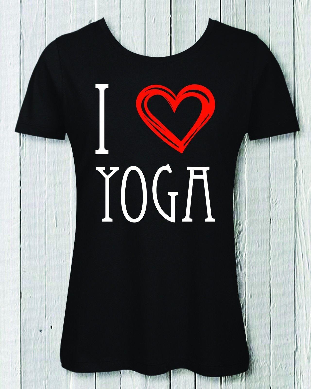 063841b10 Compre Me Encanta La Camiseta De Yoga Para Damas 100% Algodón Orgánico  Fitness Gym Clase De Yoga Hombres Mujeres Mujeres Unisex Camiseta De Moda  Envío ...