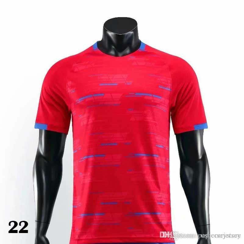 0022 2019 2021 T-shirt rouge Maillots de football Football Camiseta Hommes Enfants 20 21 Kit Uniformes Maillot
