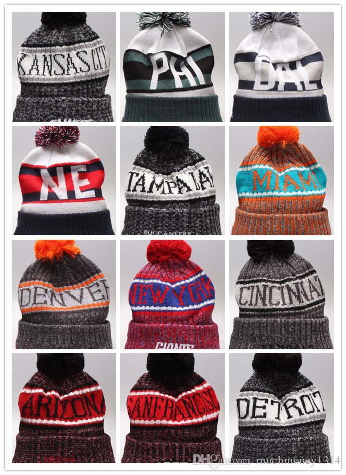 Wholesale Winter Beanie 2019 Knitted Hats All 32 Teams L Football Beanies  Sports Team Women Men Popular Fashion Winter Hat Straw Hat Baseball Cap  From ... 70ebbd0e1d1