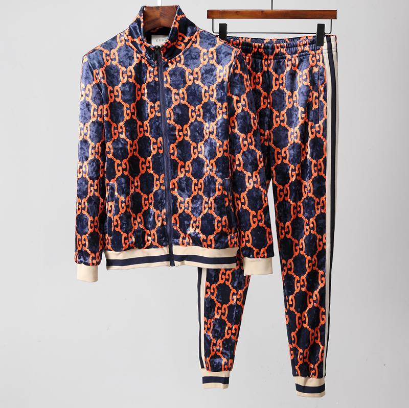 b4e53957fd42 Acquista Tuta Da Uomo Di Moda Maschile Sweat Suit 2019 Autunno Mens Tute  Set + Pantaloni Imposta Tuta Sportiva Uomo Abbigliamento A $98.26 Dal  Fendi520 ...