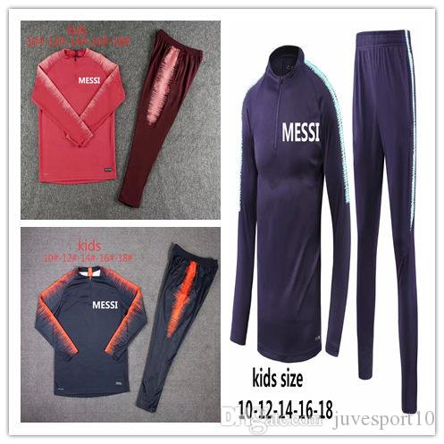 8fc37a4be16 2019 18 19 Kids Messi Suarez Soccer Training Suit Cutino Color DEMBELE Track  Suit Tights Trainers Sportswear Messi Track Suit 2019 Child Sweater From ...