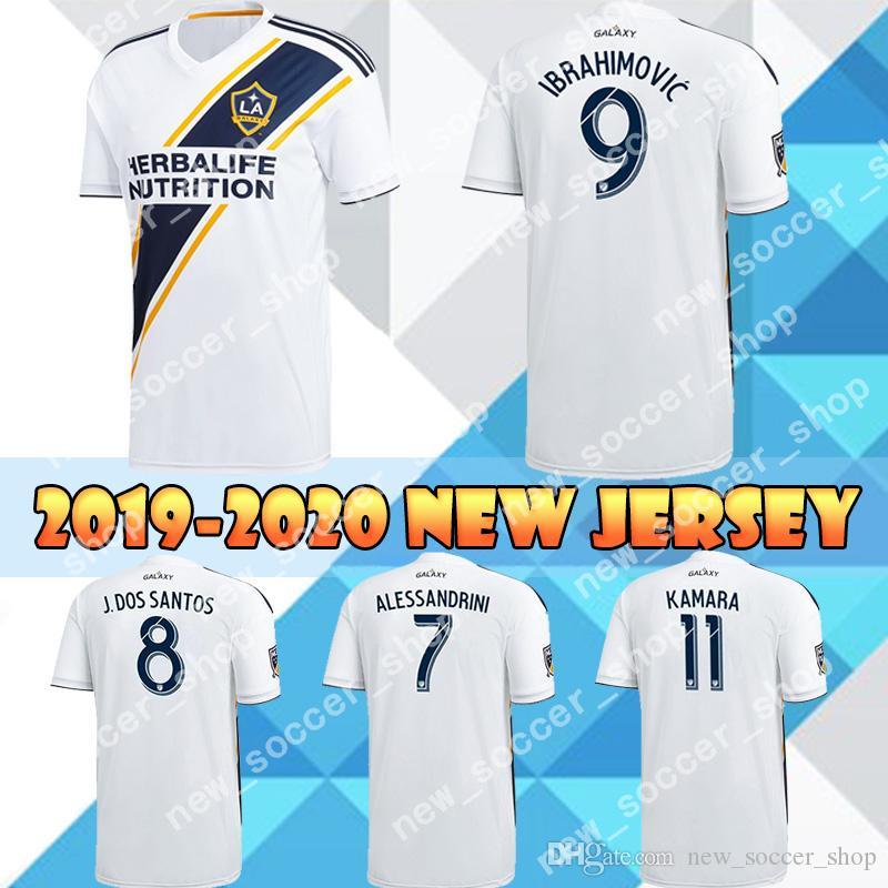 new product 0302a 2155b 2019 LA Galaxy Jersey 9 Zlatan IBRAHIMOVIC Soccer Jerseys 8 J. Dos Santos  10 Giovani 7 Alessandrini Los Angeles Galaxy Men Football Shirt