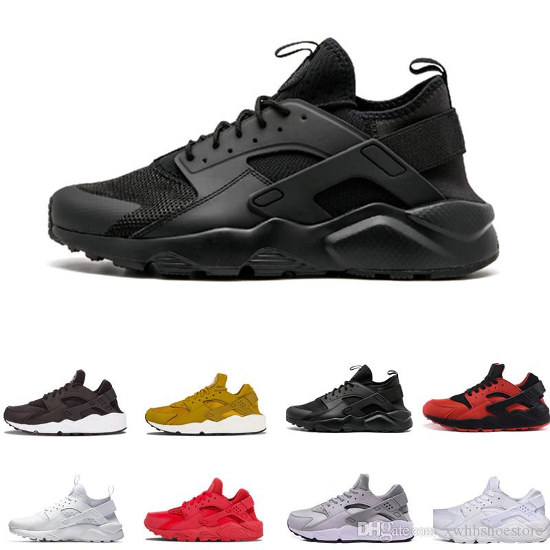 sports shoes 91c41 db9fa 2019 Air Huarache 1.0 4.0 Men Running Shoes Stripe Red Balck White Rose  Gold Women Designer Shoes Sport Sneakers 5.5 11 Shoes Men Tennis Shoes From  ...
