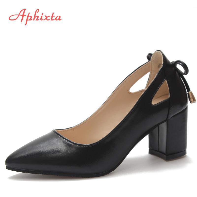 f7662ef486 Compre Aphixta Sapatos Mulheres Bombas De Salto Alto Bombas Altas Dedo  Apontado Derss Sapatos De Festa De Couro Genuíno De Camurça Tamanho 44  Bombas ...