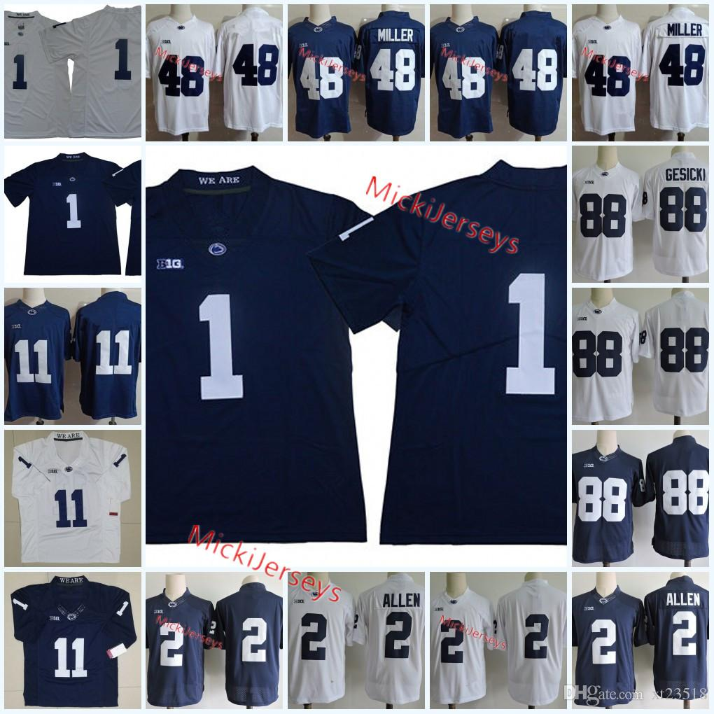 huge discount cac73 b4f10 NCAA George Campbell Penn State Nittany Lions Football Jersey 2 Marcus  Allen 88 Mike Gesicki 1 Christian Campbell 48 Shareef Miller Jersey