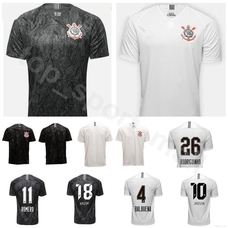 ed7c774a069 2019 18 19 Season FC Corinthian Paulista Jersey Men Soccer 4 BALBUENA 10  JADSON 25 CLAYSON 26 RODRIGUINHO 11 ROMERO Football Shirt Kit From ...