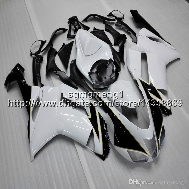 23colors+Gifts black white motorcycle cowl For Kawasaki Ninja ZX636 ZX-6R 07 08 ZX6R 2007-2008 zx-636 ABS Plastic motorcycle Fairing hull