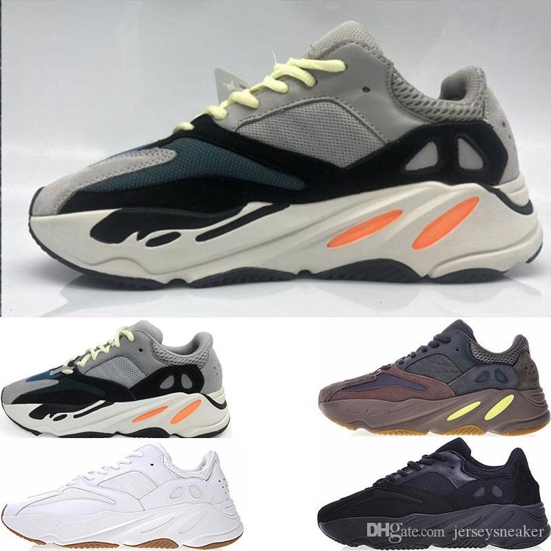 separation shoes 2a7c2 4855b Compre Descuento Kanye West Retro Wave Runner 700 Grey Causal Zapatos Para  Hombre Sólido Gris Chalk Blanco Core Negro Zapatilla De Deporte Tamaño 5  11.5 A ...