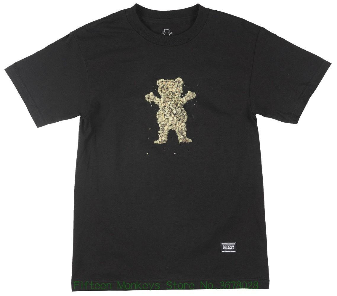 Abbigliamento Tshirt Grizzly Griptape Roll - Up Bear T-shirt manica corta Primavera 2019 Tee Mens Black