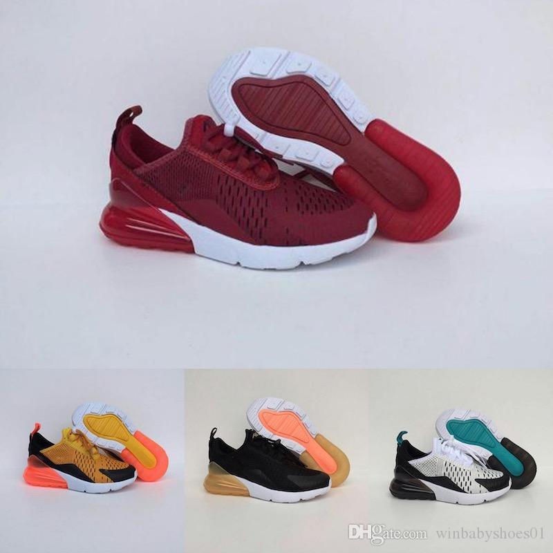 Nike air max 270 Calzado de baloncesto de los niños de la venta caliente Calzado deportivo de los niños para los zapatos de las muchachas del muchacho