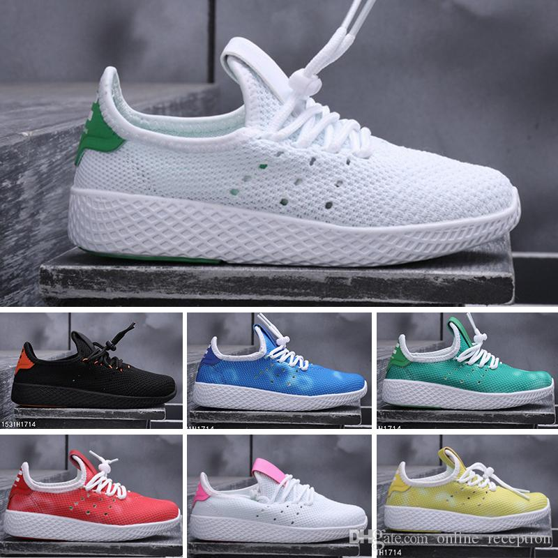 d1025d05a Compre Adidas Pharrell Williams Tennis HU 2018 Nuevo Llega Pharrell Williams  X Stan Smith Tenis HU Primeknit Hombres Mujeres Niños Zapatos Transpirables  EUR ...