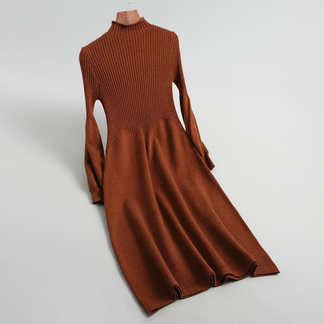 Compre 2018 Outono E Inverno Vestido De Tricô Novo Temperamento Elegante  Cultivar Uma Moralidade Vestido Show Fino Tricô Mulheres De Feiyancao f60be352fbc