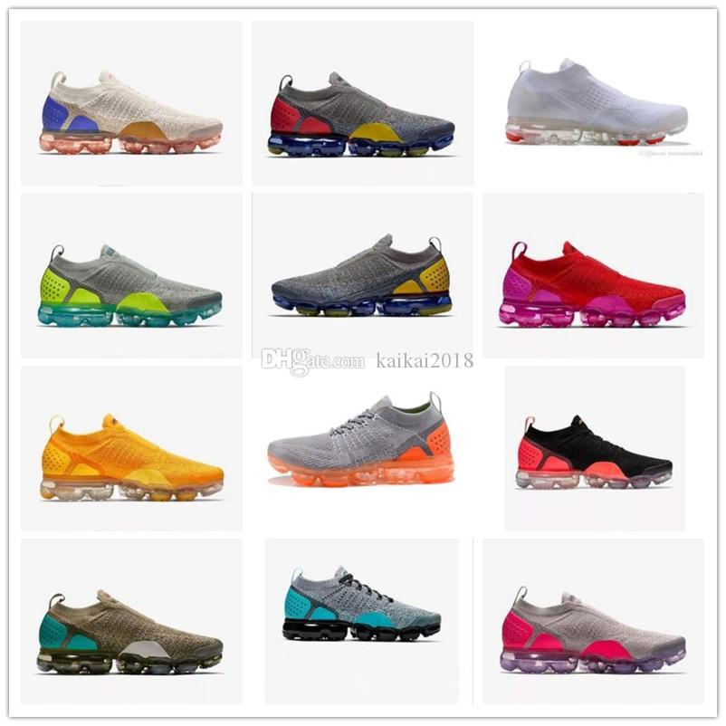 7d31abacb39 2018 Newest Vapor Men Running Trainer Air Cushion for Women Shoe Red White  Black Yellow Athletic Wholesale Sports Sneaker Size 36-46 Air Shoes Vapor  Trainer ...