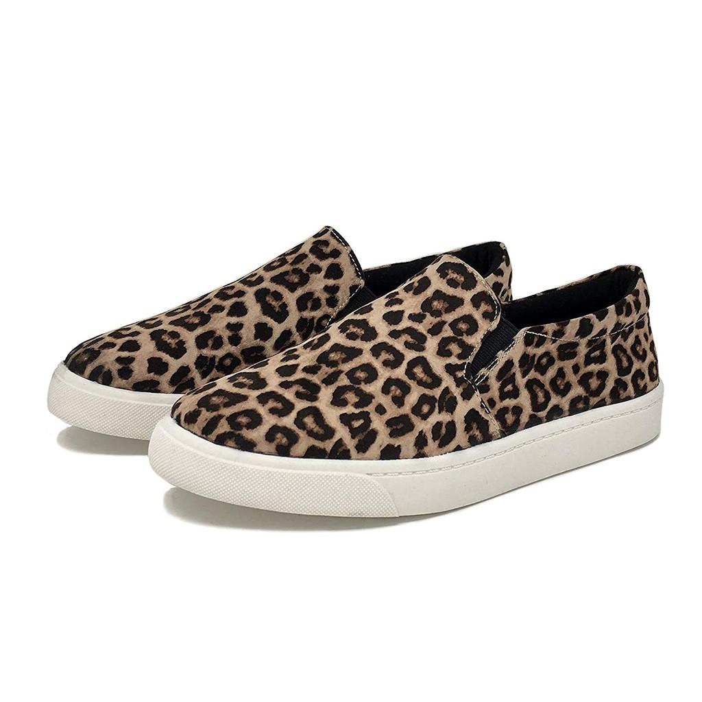 cbdd7ebc8 Retro Women's foreign trade large size flat shoes leopard print lazy shoes  one foot casual leopard flat#G6