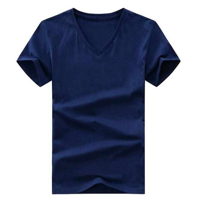 Men's T-shirt summer European and American sports brand design casual color letter printing trend men and women couple V-neck T-shirt