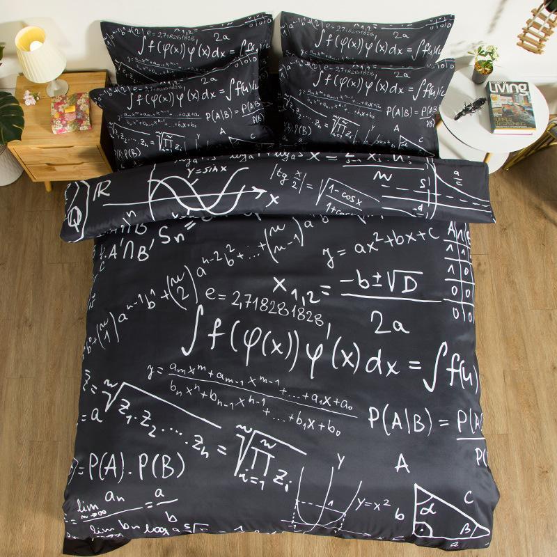 Creative Teen Boy Bedding Set Single Size Mathematics Bedding King