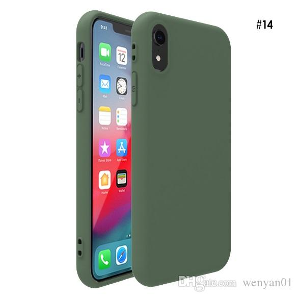For iPhone X Mobile Phone Shell Case Matte Frosted Soft Cases TPU Candy Color Painted Protective Back Cover For iPhone 7 Plus 8 Plus