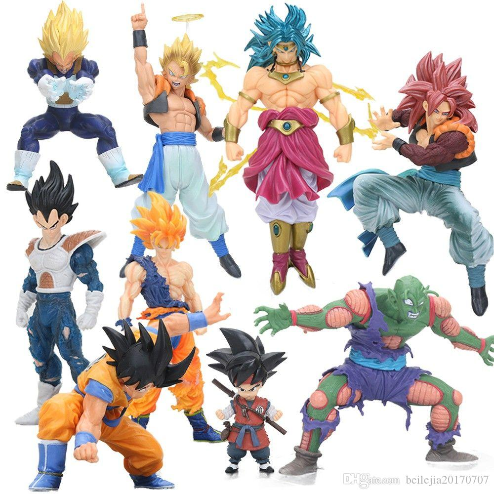 Scultures BIG 7 Dragon ball Z Figure Super Saiyan Son Goku Gohan Vegeta Broly Piccolo Gogeta PVC Action Figures Model Dolls Toys