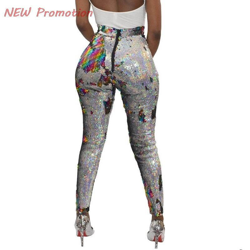 8fa7f01c77849 2019 Sequin Pants High Waist Legging Women 2018 Streetwear Sexy Feminina  Punk Bling Leggins Shining Size Biased Small Code From Candycloth, $29.37 |  DHgate.
