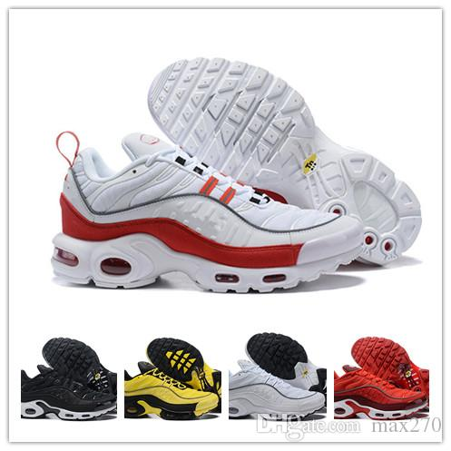 cfab24c485 2019 Designer Plus 98 TN 98s Mens Running Shoes Black Yellow Red ...