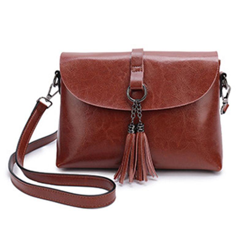 40deb31dbdb9 New Arrival Genuine Leather Women Crossbody Bag Fashion Tassel ...
