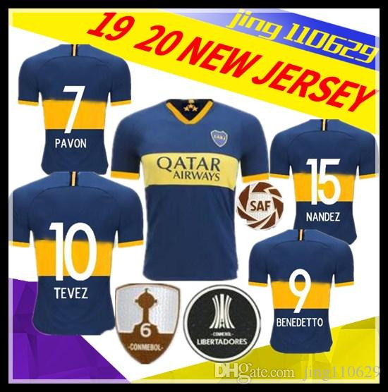 4160a7789cc 2019 2019 2020 Boca Juniors Soccer Jerseys 19 20 Home MARCONE 17 ABILA  19/20 #7 PAVON #9 BENEDETTO #10 TEVEZ #15 NANDEZ Football Shirts From  Jing110629, ...