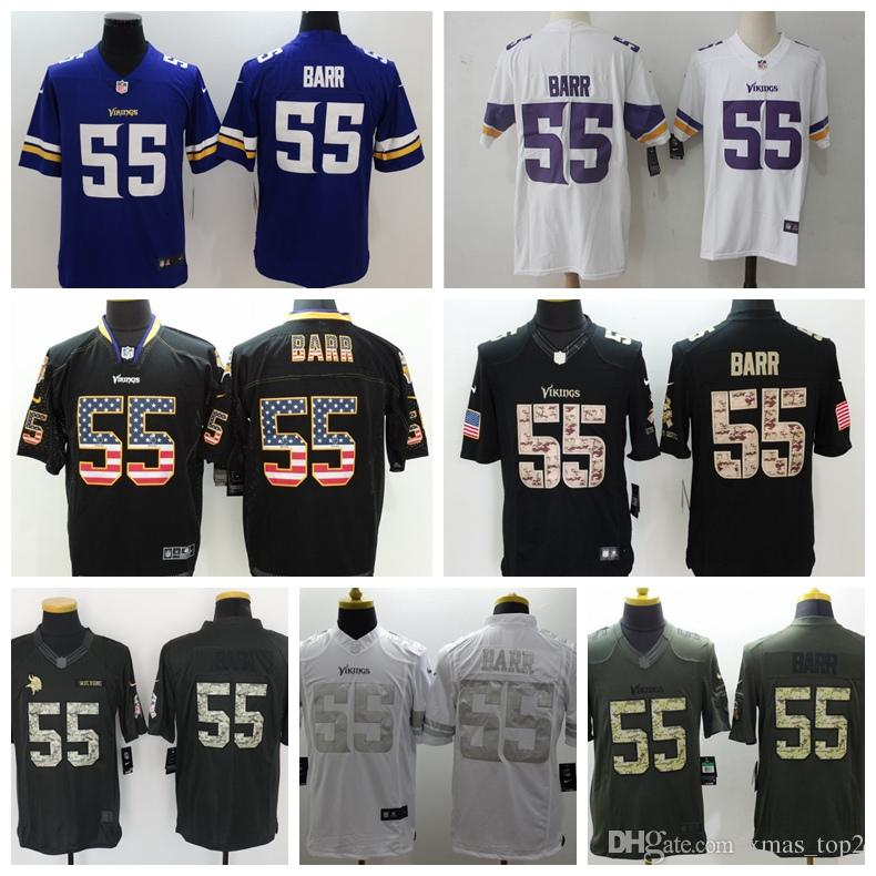 7e780ec0 2019 Mens 55 Anthony Barr Minnesota Vikings Football Jersey 100% Stitched  Embroidery Vikings Anthony Barr 55 Color Rush Football Shirts