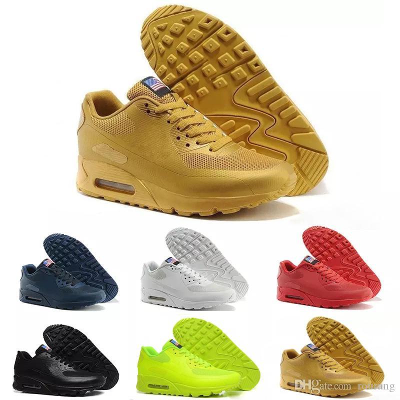 best sneakers 52aac c0195 Acheter Nike Air Max Airmax 90 HYP PRM QS Chaussures Hommes 90 HYP PRM QS  Chaussures Casual Vente En Ligne De Mode Fête De L indépendance Zapatillas  Drapeau ...