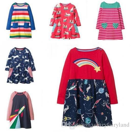 2ee5fb30a 2019 Kds Designer Clothes Girls Dress Party Kids Clothing Princess ...