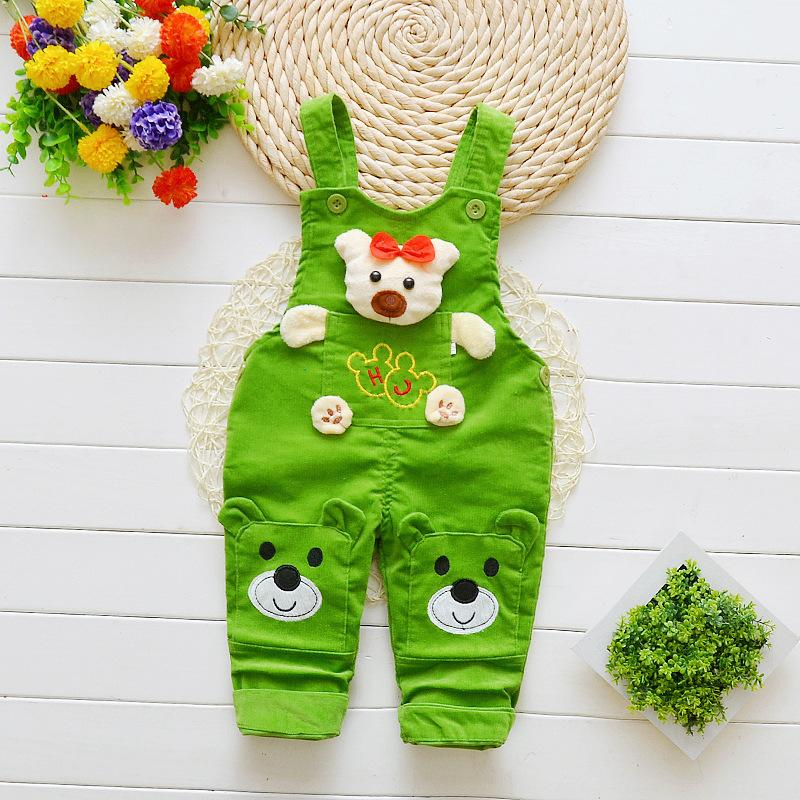 0d6595748b4d BibiCola Baby Pants Boys Girls Jeans Overalls Toddler Kids Cartoon Bear Denim  Rompers Bebe Jumpsuit Clothes for Baby Online with  34.47 Piece on  Cynthia05 s ...
